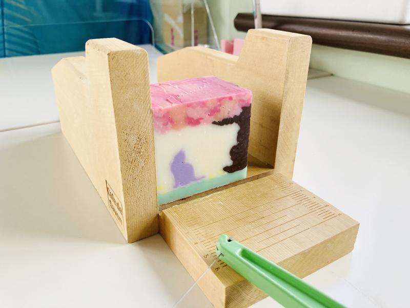 猫石鹸 桜の石けん デザインソープ 上級デザイン 春石けん お花見